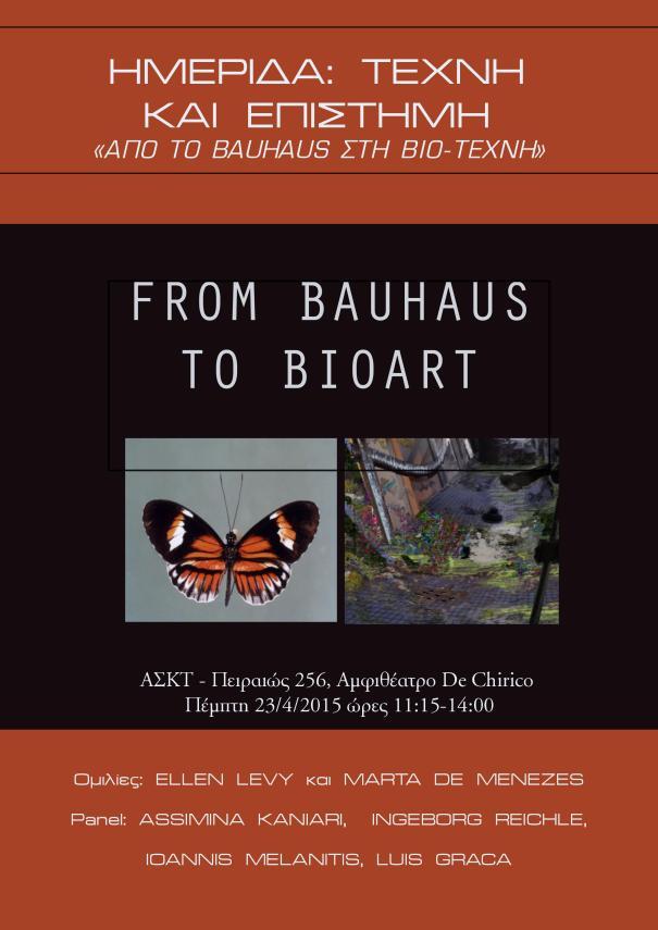 From Bauhaus to Bioart